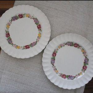 Set of 2 Copeland Spode Rose Briar Plate L863
